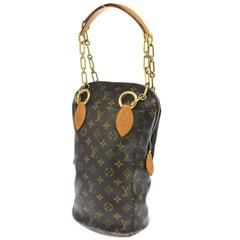 Louis Vuitton Limited Edition Collector's Monogram Chain Top Handle Shoulder Bag