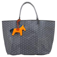 Goyard Saint Louis GM Grey Chevron Tote Bag Chic