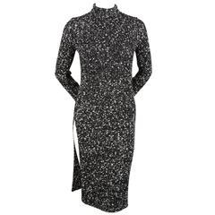 CELINE Phoebe Philo black & white tunic sweater dress - RUNWAY