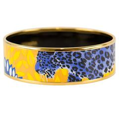 "Hermes Bracelet  Enamel ""Jungle of Eden""  Pollen et Azur Color GHW 2016"