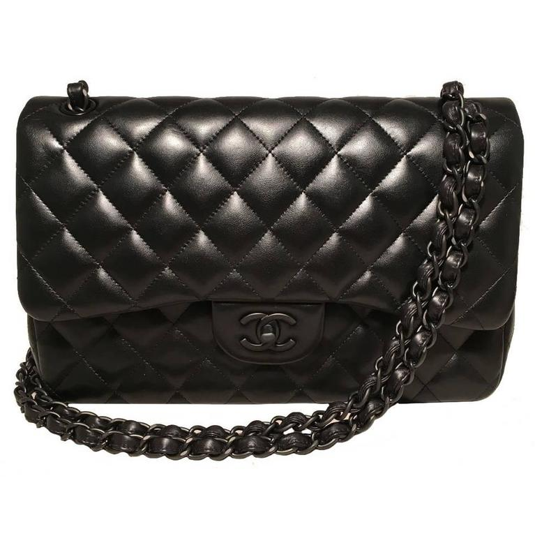 ae30823a896a Chanel So Black Jumbo Classic Flap Bag | Stanford Center for ...