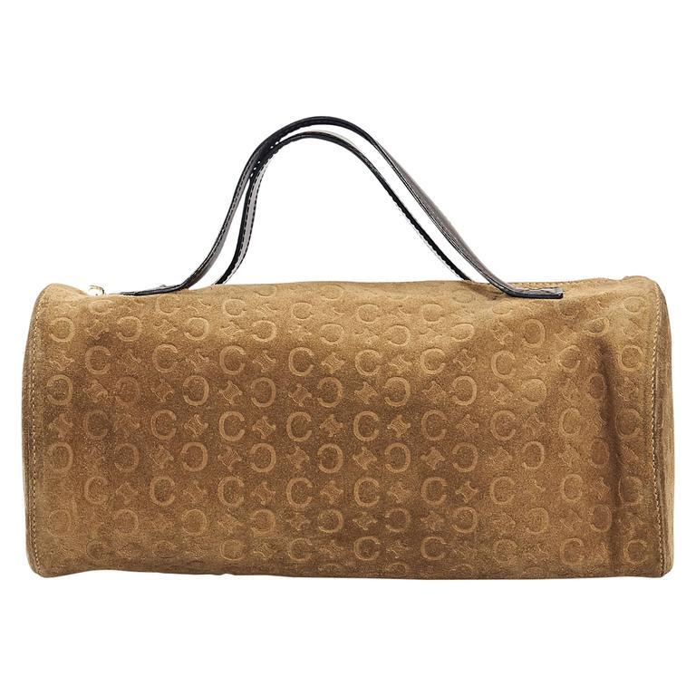 Tan Celine Suede Embossed Bag 1