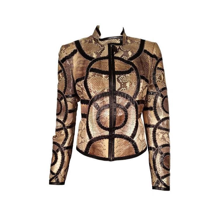 Gucci Python and Lizard Jacket