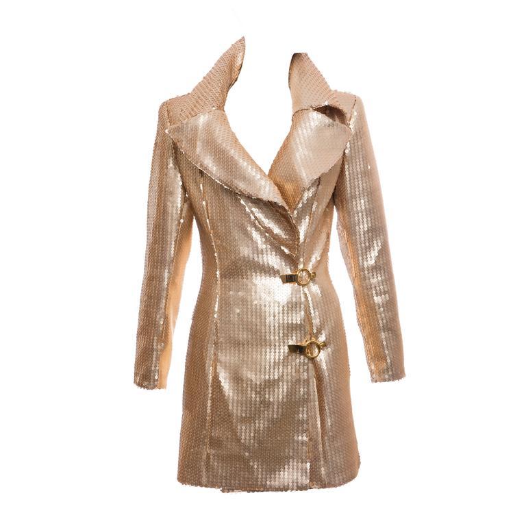 Claude Montana Gold Sequin Jacket, Circa 1980's