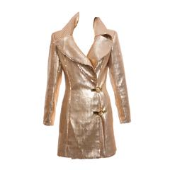 Claude Montana Gold Sequin Jacket, Circa 1980's