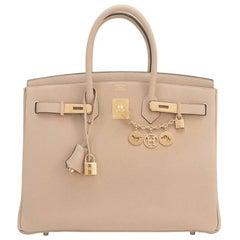 Hermes Trench 35cm Togo Beige Gold Hardware Birkin Bag