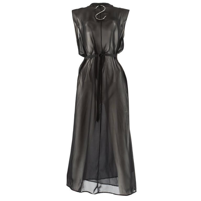 Maison Martin Margiela Spring-Summer 1999 chiffon wrap dress with metal hanger