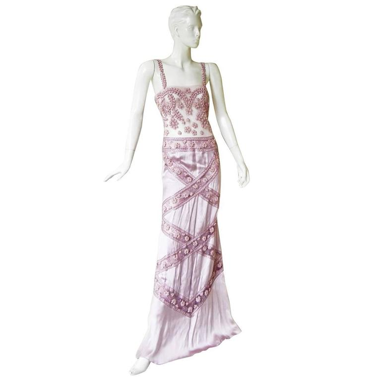 Stunning Valentino Embroidered Evening Gown For Sale