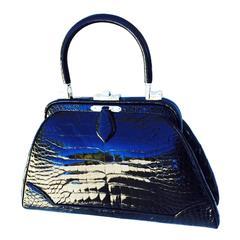 Exquisite Judith Leiber Porosus Crocodile Handbag 1960s