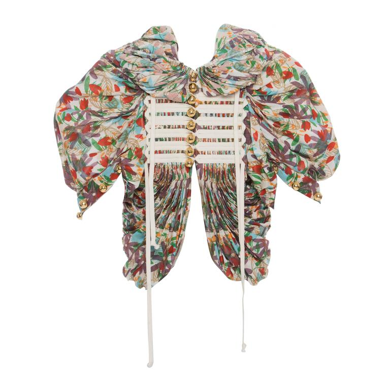 Tao Comme des Garcons Floral Cotton Pleated Jacket, Spring -Summer 2009 1