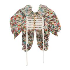 Tao Comme des Garcons Floral Cotton Pleated Jacket, Spring -Summer 2009