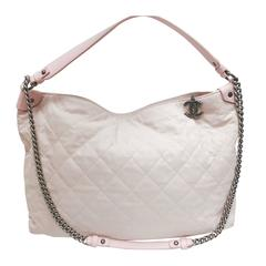 CHANEL Light Pink Quilted Calfskin Leather Coco Daily Hobo Bag 13C