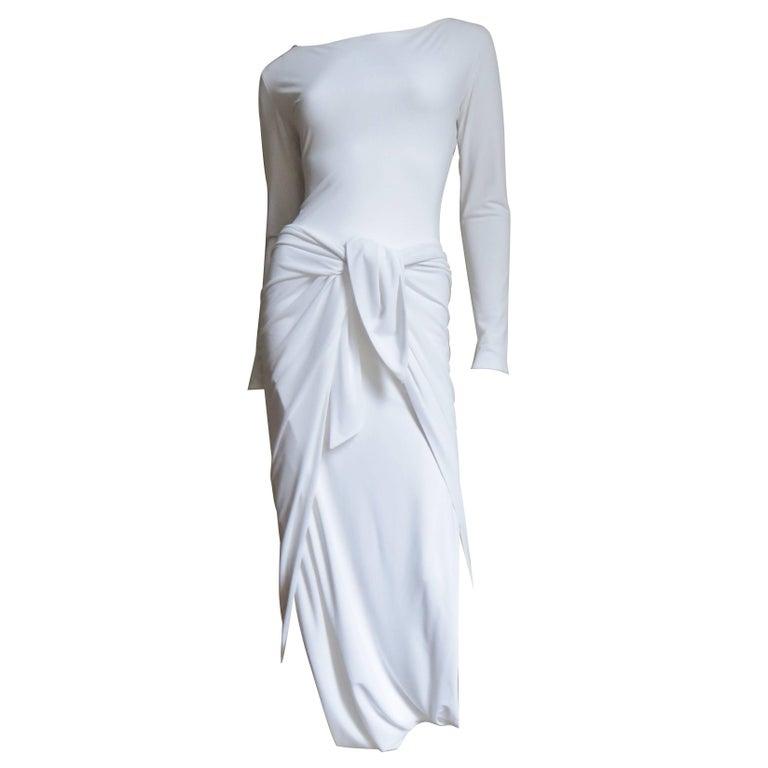 1990s Norman Kamali Diaper Dress