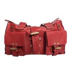 Mulberry Red Leather Roxanne