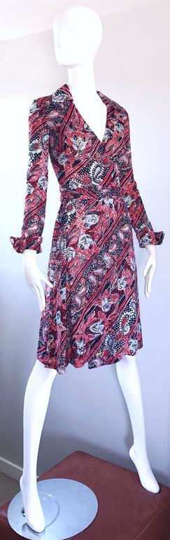 1970s Diane Von Furstenberg Bandanna Print Red White And