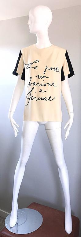 Rare Vintage Moschino Couture Quot La Porti Un Bacione A