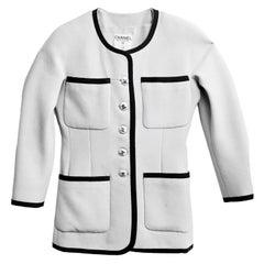 Chanel Grey & Black Wool Jacket sz FR34