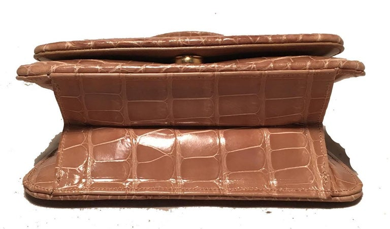 Women's Judith Leiber Vintage Tan Alligator Mini Evening Bag For Sale