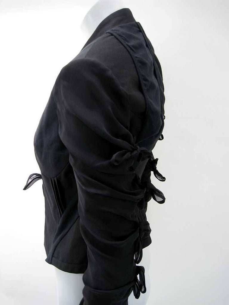 Rick Owens Multi Tie Cropped Avant Garde Structured Jacket For Sale 2
