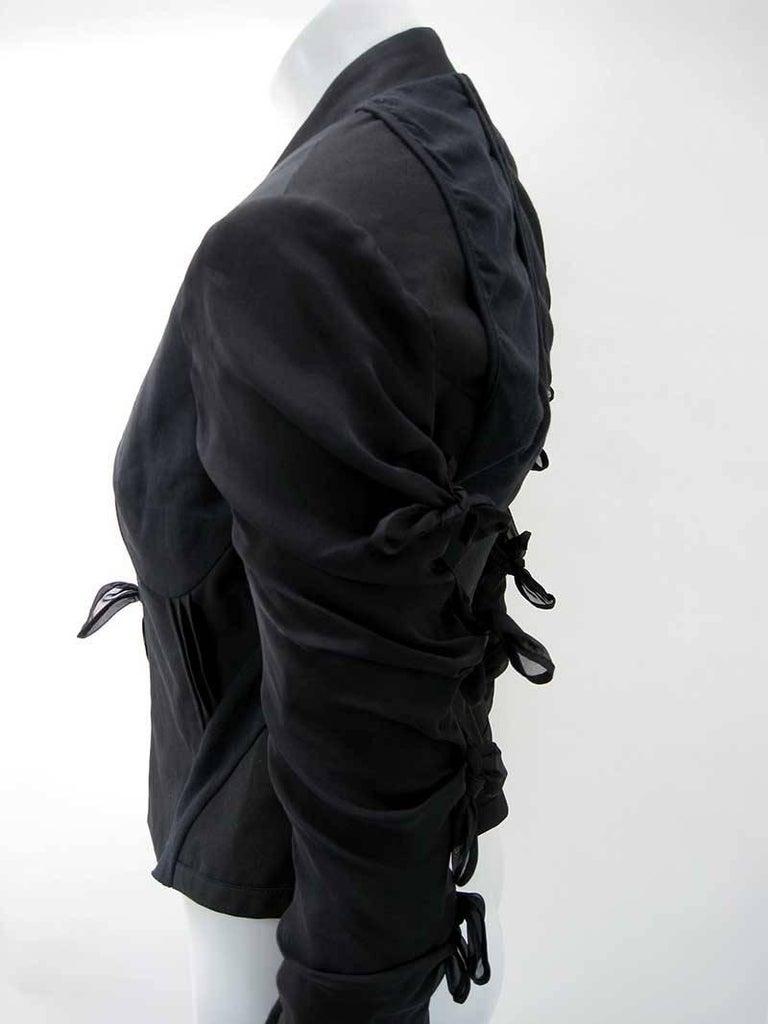 Rick Owens Multi Tie Cropped Avant Garde Structured Jacket 7