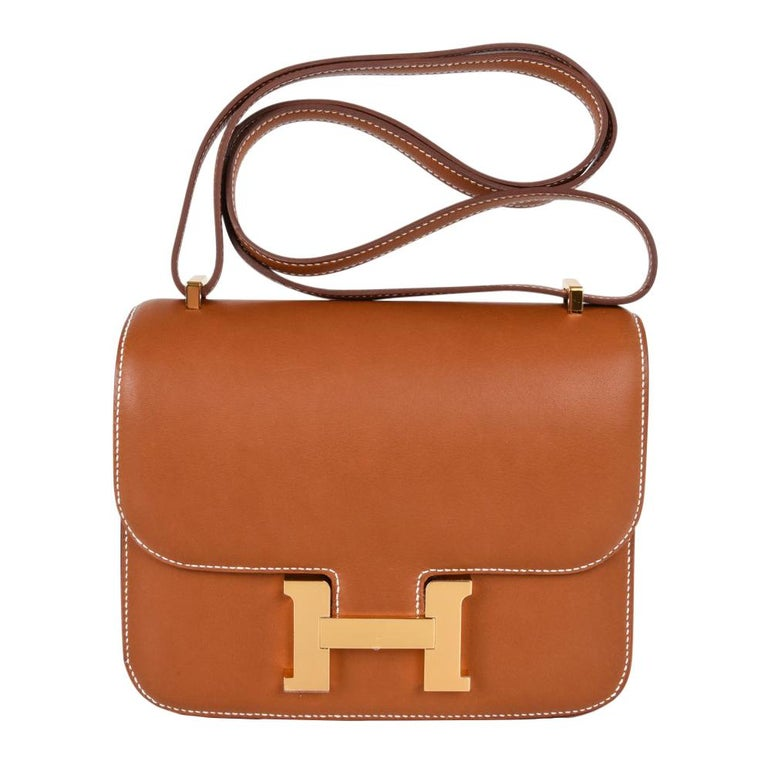 5b1c793ae80a Hermes Constance Bag 18 Rare Fauve Barenia Leather Gold Hardware For Sale
