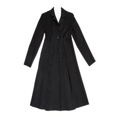 Prada Black Cotton Princess Cut Coat