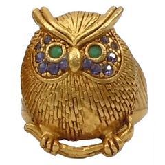 Askew London Owl Ring