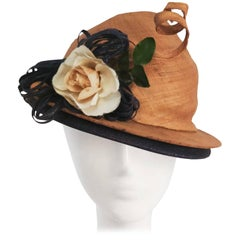 1930s Whimsical Corkscrew Straw Hat