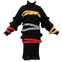 """Autumn-Winter 1985 BodyMap """"Harriet"""" hand knitted dress"""