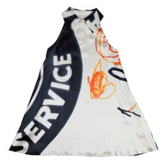 STEPHEN SPROUSE (pontiac) Jean-Michel Basquiat and Andy Warhol dress