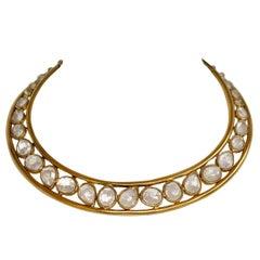 Goossens Paris Rock Crystal Torque Cashmere Necklace