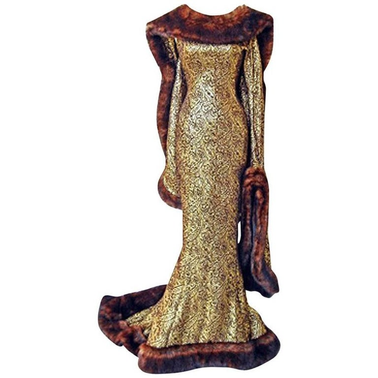 Thierry Mugler A/W 1997-1998 Paris Haute Couture Medieval Runway Gown Rare! For Sale
