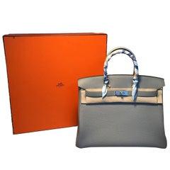 Hermes Custom Made Grey 35cm Togo Birkin Bag, 2017