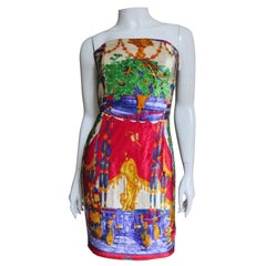 Early Gianni Versace Baroque New Vintage Bustier Corset Dress