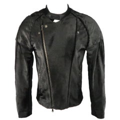 Baja East Jacket - Black Perforated Ponyhair Leather, Motorcycle Coat