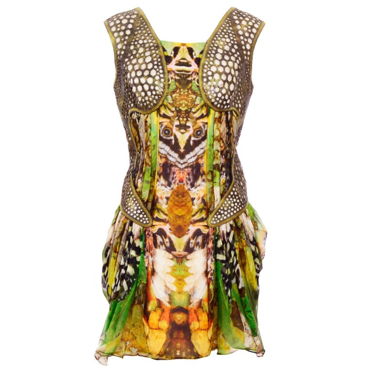 Alexander McQueen Plato's Atlantis Silk Dress with Leather Harness 1