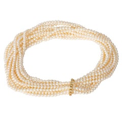 Cassandra Goad Pearls with Diamond and Gold Shorteners