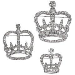 Mint Collection Of Queen's Coronation Swarovski Rhinestone Crown Pins