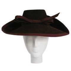 1940s Brown Wool Felt Hat