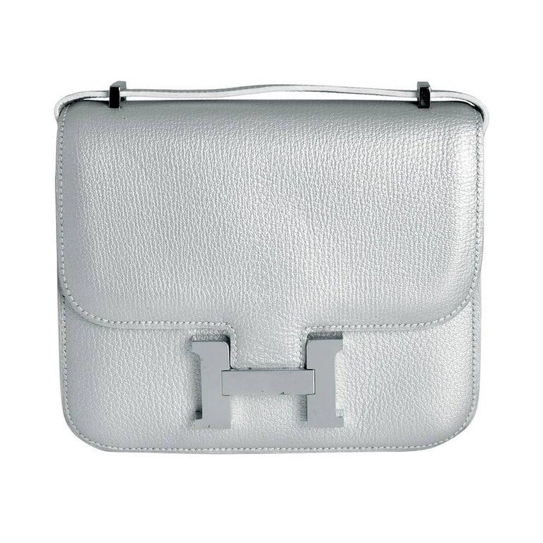 Hermes 18cm Silver Constance Bag  1
