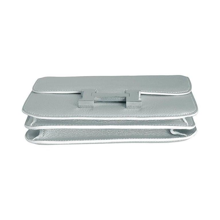 Hermes 18cm Silver Constance Bag  4