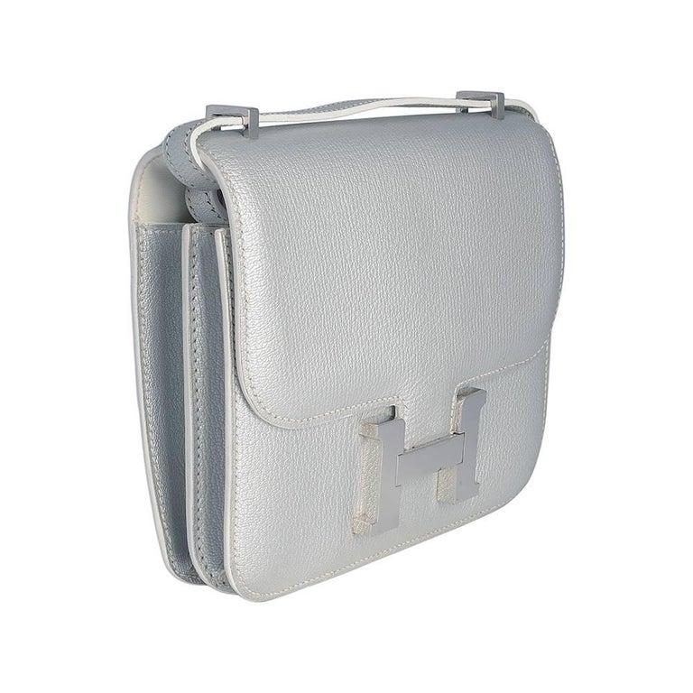Hermes 18cm Silver Constance Bag  2