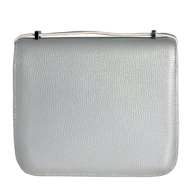 Hermes 18cm Silver Constance Bag  3