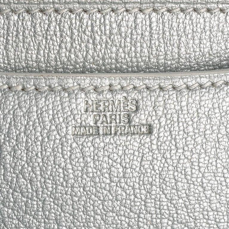 Hermes 18cm Silver Constance Bag  6
