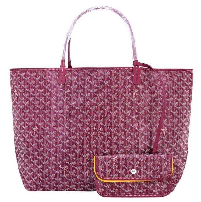 Goyard St Louis Tote Burgundy Chevron Bag GM