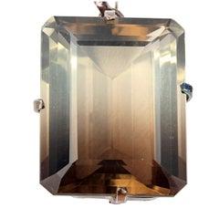 Unique Rare 69 Carat Glistening Smoketrine Sterling Silver Pendant