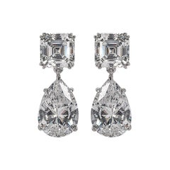 Magnificent Costume Jewelry Diamond  Drop Earrings