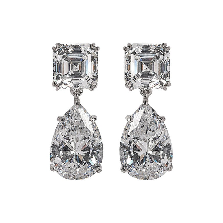 Magnificent Costume Jewelry Diamond Drop Earrings For