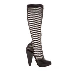 Versace Black Woven Mesh Boots, Autumn - Winter 2012