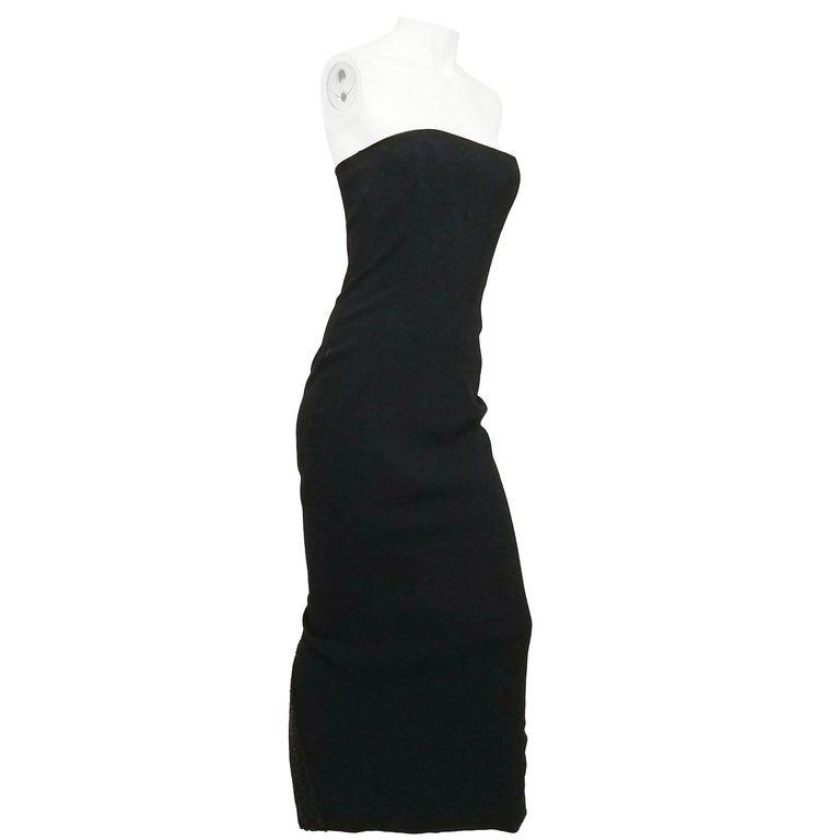1990s Sylvia Heisel Strapless Knit Dress